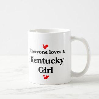 Chica de Kentucky Taza Básica Blanca