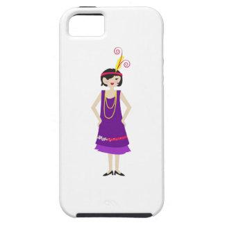 Chica de la aleta iPhone 5 cárcasa