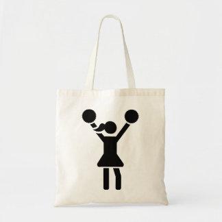 Chica de la animadora bolsa lienzo