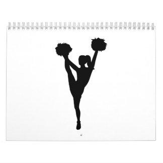 Chica de la animadora del baile calendarios