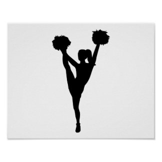 Chica de la animadora del baile póster