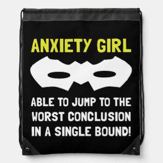 Chica de la ansiedad mochila