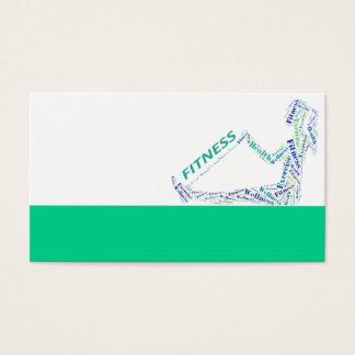 Chica de la aptitud tarjetas de visita