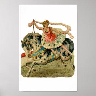 Chica de la bailarina del circo posters