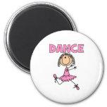 Chica de la bailarina imanes