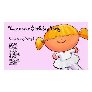 Chica de la bailarina - personalizar plantilla de tarjeta de visita