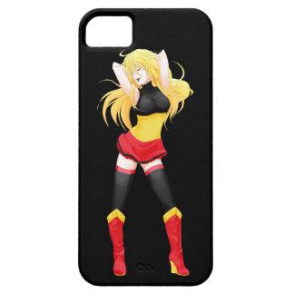 Chica de la bandera de Manga del belga de Bélgica Funda Para iPhone 5 Barely There