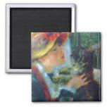 Chica de la bella arte de Renoir con el imán del p