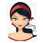 Chica de la belleza flyer personalizado