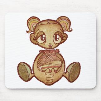 Chica de la cabeza de globo alfombrillas de ratones