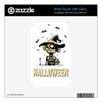 Chica de la calabaza de Halloween Calcomanía Para iPod Touch 4G