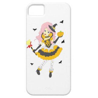 Chica de la calabaza del feliz Halloween iPhone 5 Case-Mate Carcasas