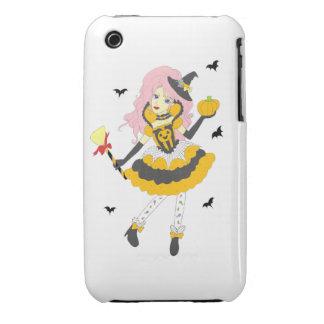 Chica de la calabaza del feliz Halloween Case-Mate iPhone 3 Carcasas