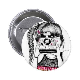 Chica de la cámara pins