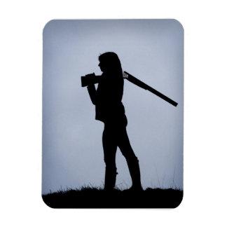 Chica de la caza iman