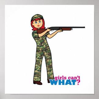Chica de la caza poster
