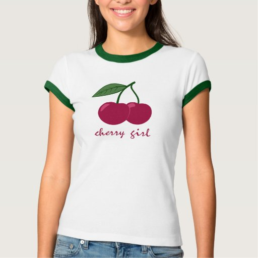 Chica de la cereza playeras