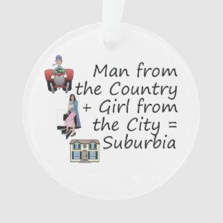 Chica de la ciudad del hombre del país de ABH