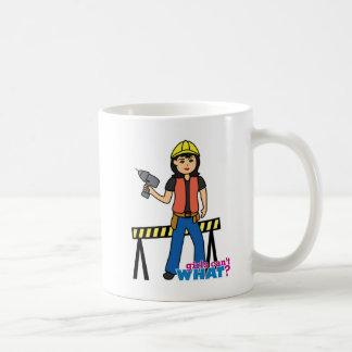 Chica de la construcción - medio taza clásica