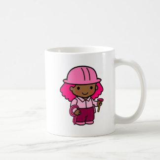 Chica de la construcción taza clásica