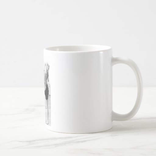 chica de la danza tazas de café