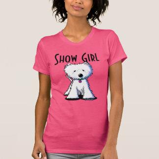 Chica de la demostración de Westie Terrier Playeras