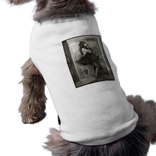 Chica de la demostración del francés circa 1920 prenda mascota