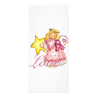 Chica de la estrella del arte del país - amor diseño de tarjeta publicitaria