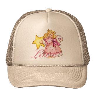 Chica de la estrella del arte del país - amor gorras de camionero