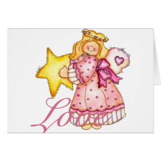 Chica de la estrella del arte del país - amor tarjeta