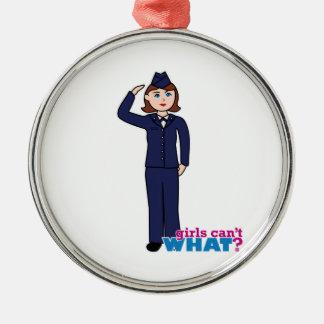 Chica de la fuerza aérea ornamentos para reyes magos