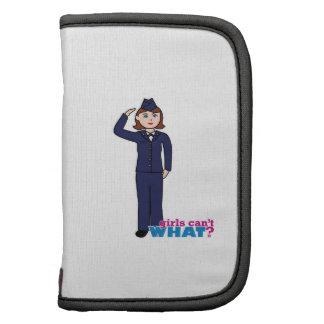 Chica de la fuerza aérea planificadores