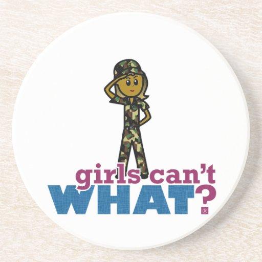 Chica de la fuerza aérea posavasos personalizados