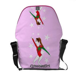 Chica de la gimnasia bolsas de mensajeria
