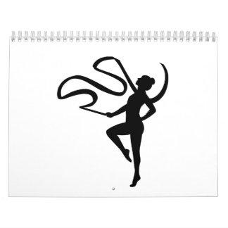 Chica de la gimnasia calendarios de pared