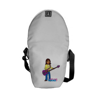 Chica de la guitarra baja bolsas de mensajeria