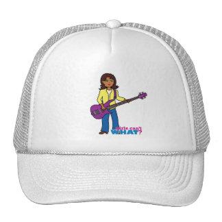 Chica de la guitarra baja gorra