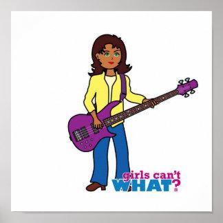 Chica de la guitarra baja póster