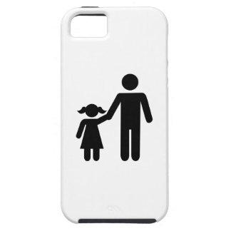Chica de la hija del papá del padre iPhone 5 funda