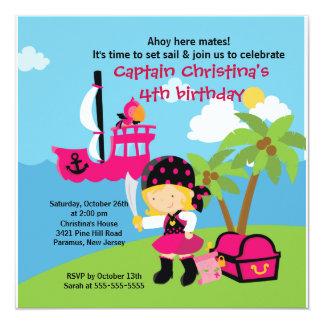 Chica de la invitación de la fiesta de cumpleaños