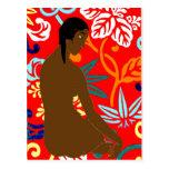 Chica de la isla, estilo de Gauguin, Tarjeta Postal