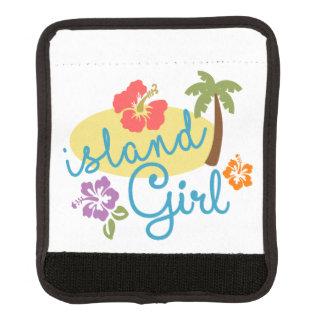 Chica de la isla funda para asa de maleta