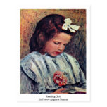 Chica de la lectura de Pierre-Auguste Renoir Postal