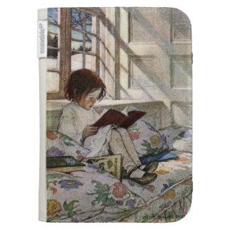 Chica de la lectura del vintage