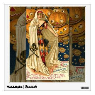 Chica de la linterna de Halloween Jack O del