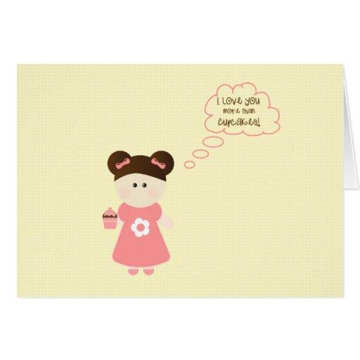 Chica de la magdalena - tarjeta de felicitación