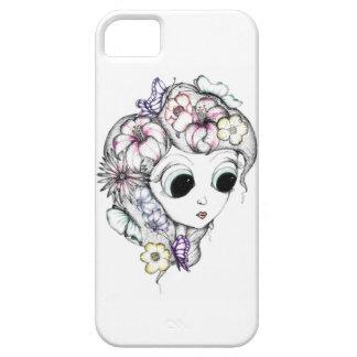 Chica de la mariposa funda para iPhone 5 barely there