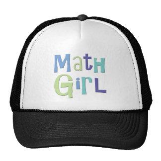 Chica de la matemáticas gorros bordados