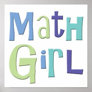 Chica de la matemáticas póster