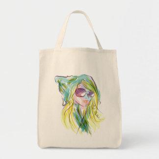 Chica de la moda bolsas
